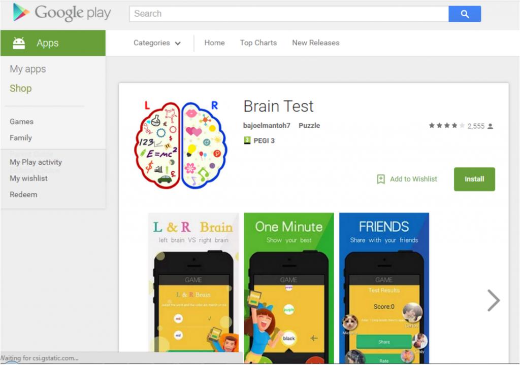 Aplikace Brain Test stanovila novou úroveň v oblasti mobilního malware