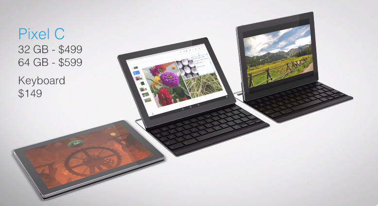 Pixel C – tablet s Android bez označení Nexus