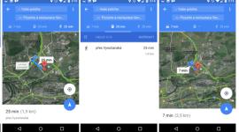 Google Mapy v9.14 – nové funkce a upravený design