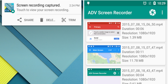 Nahrávejte si obrazovku na Androidu pomocí ADV Screen Recorder