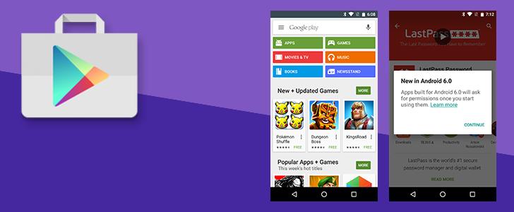 Obchod Play v5.9 – začínají přípravy na Android 6.0