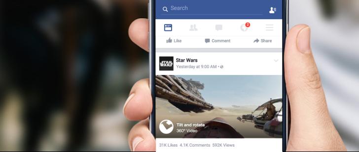 Facebook přidává možnost 360° videí pro svou aplikaci i web