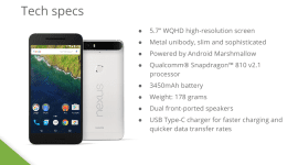 Prezentace o modelu Nexus 6P obsahuje mnoho důležitých informací