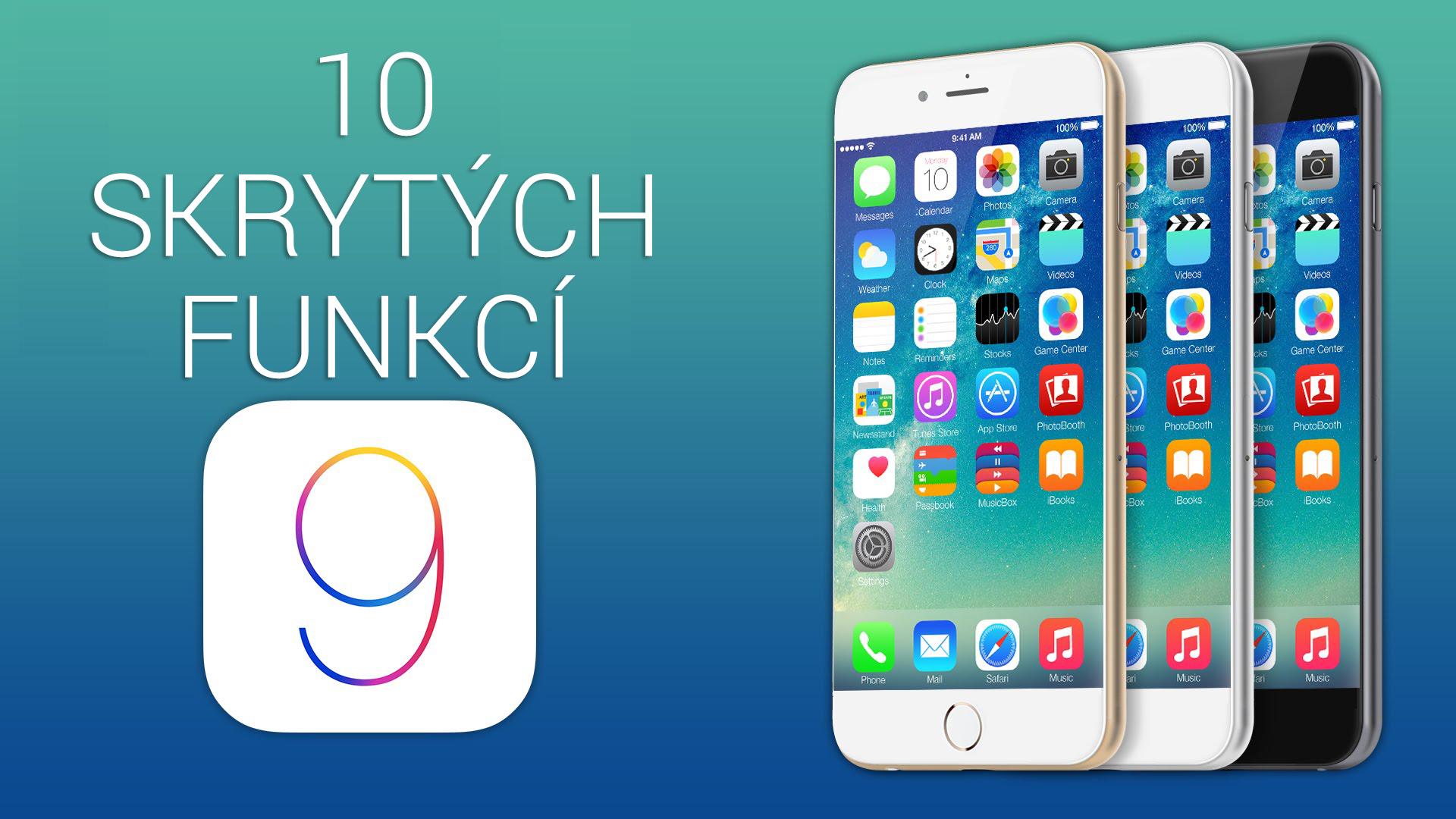 10 skrytých funkcí iOS 9 [video]