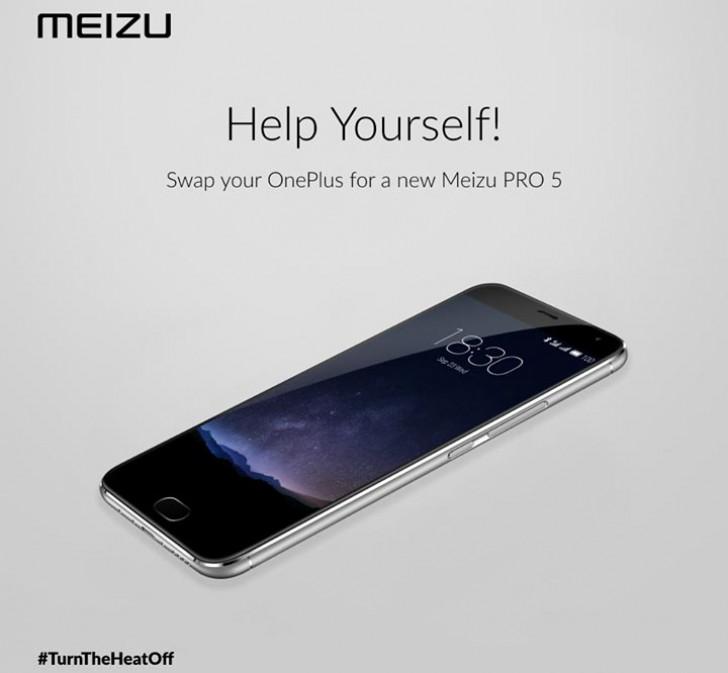 Meizu škádlí OnePlus – vyměníte OnePlus 2 za Meizu PRO 5? [aktualizováno]