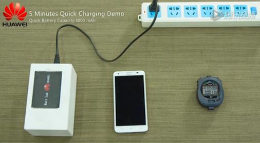 Huawei – 10x rychlejší nabíjení baterií