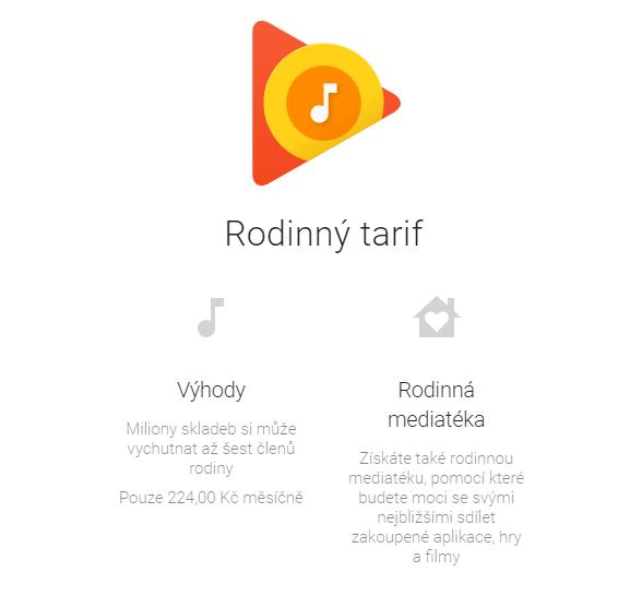 Do Česka přichází Google Play Music pro rodiny [aktualizováno]
