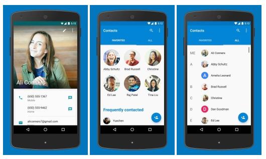 Aplikace Kontakty a Telefon prvně v Obchodě Play
