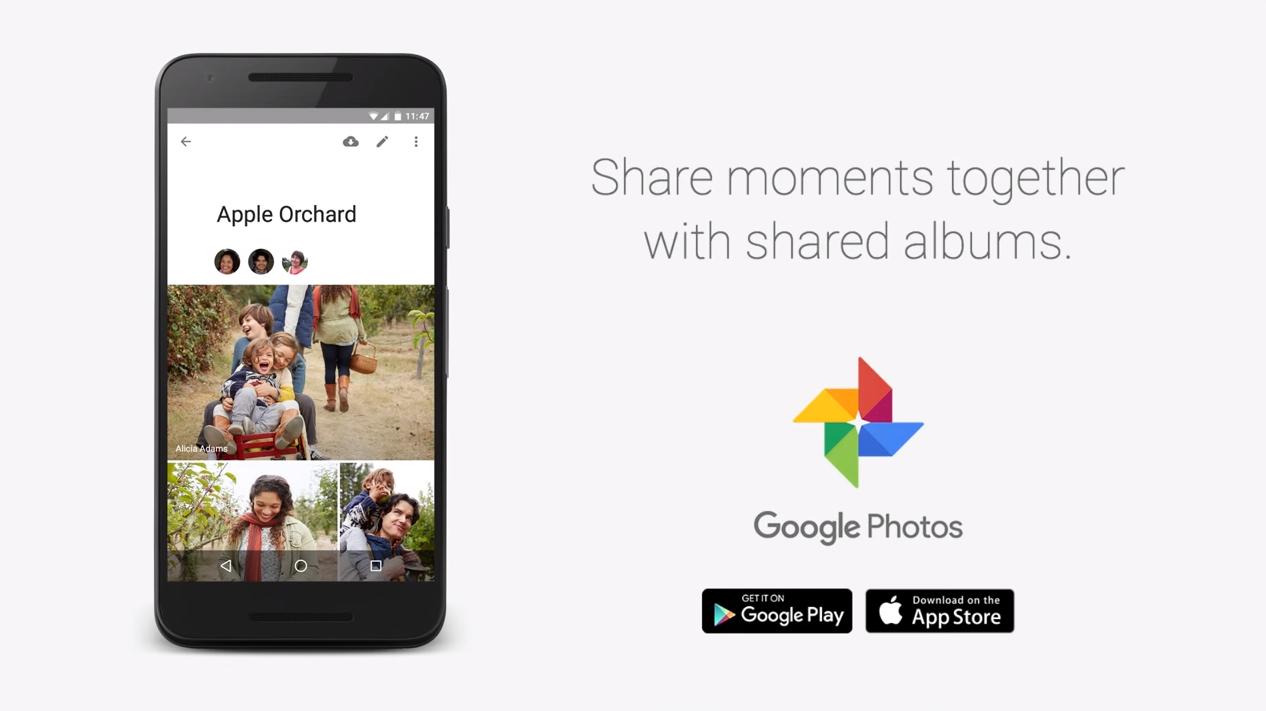 Google Fotky – sdílená alba