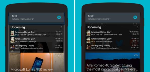 Snap – widgety v notifikační liště pro Android
