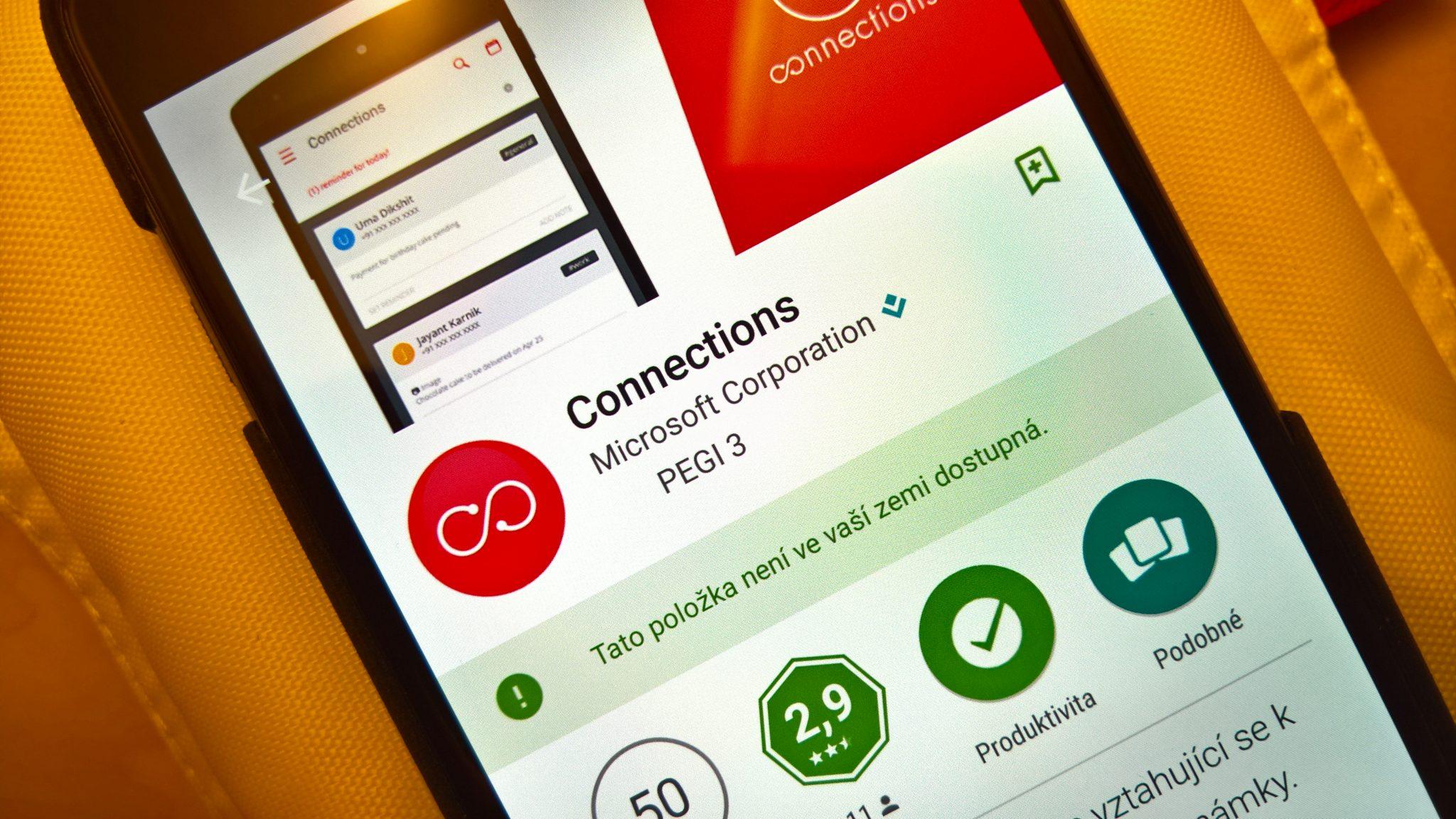 Microsoft Connections – chytrá aplikace pro správu a organizaci kontaktů