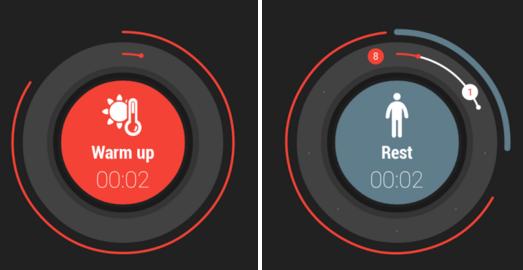 Intervalový časovač pro Tabatu v moderním designu