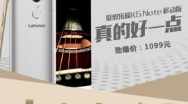 K5 Note od Lenova měsíc po představení K4 Note