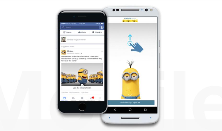 Facebook představuje nový reklamní formát pro mobily