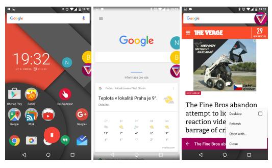 Flyperlink – webový prohlížeč v bublinách