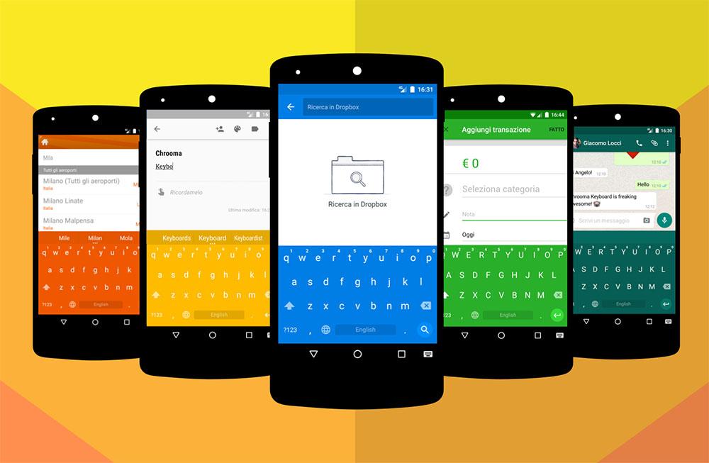 Chrooma Keyboard – barevná verze Google Keyboard