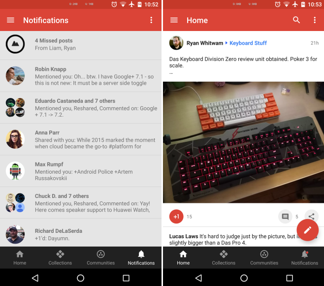 Aktualizace Google Plus – unikly vám příspěvky? Aplikace vám je zpětně (ne)zobrazí