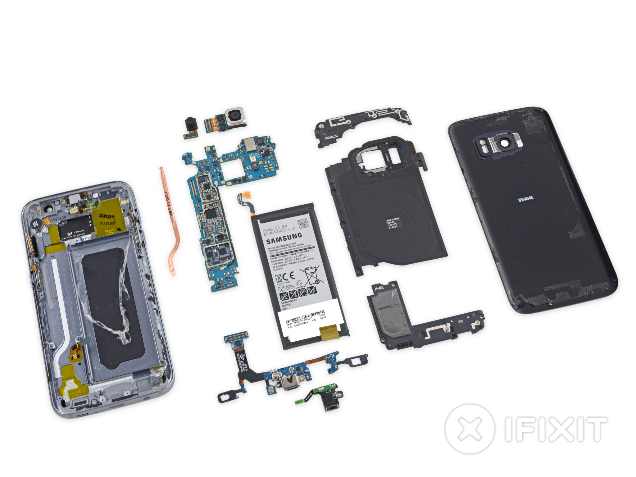 iFixit – Galaxy S7 je těžší opravit než Galaxy S6