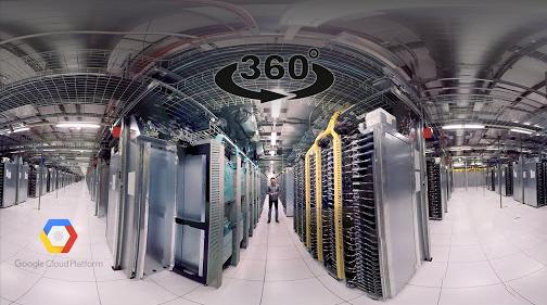 360° video zachycující datové centrum Googlu