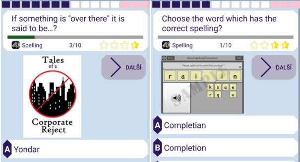 Král kvízů – spelling anglického jazyka zábavně