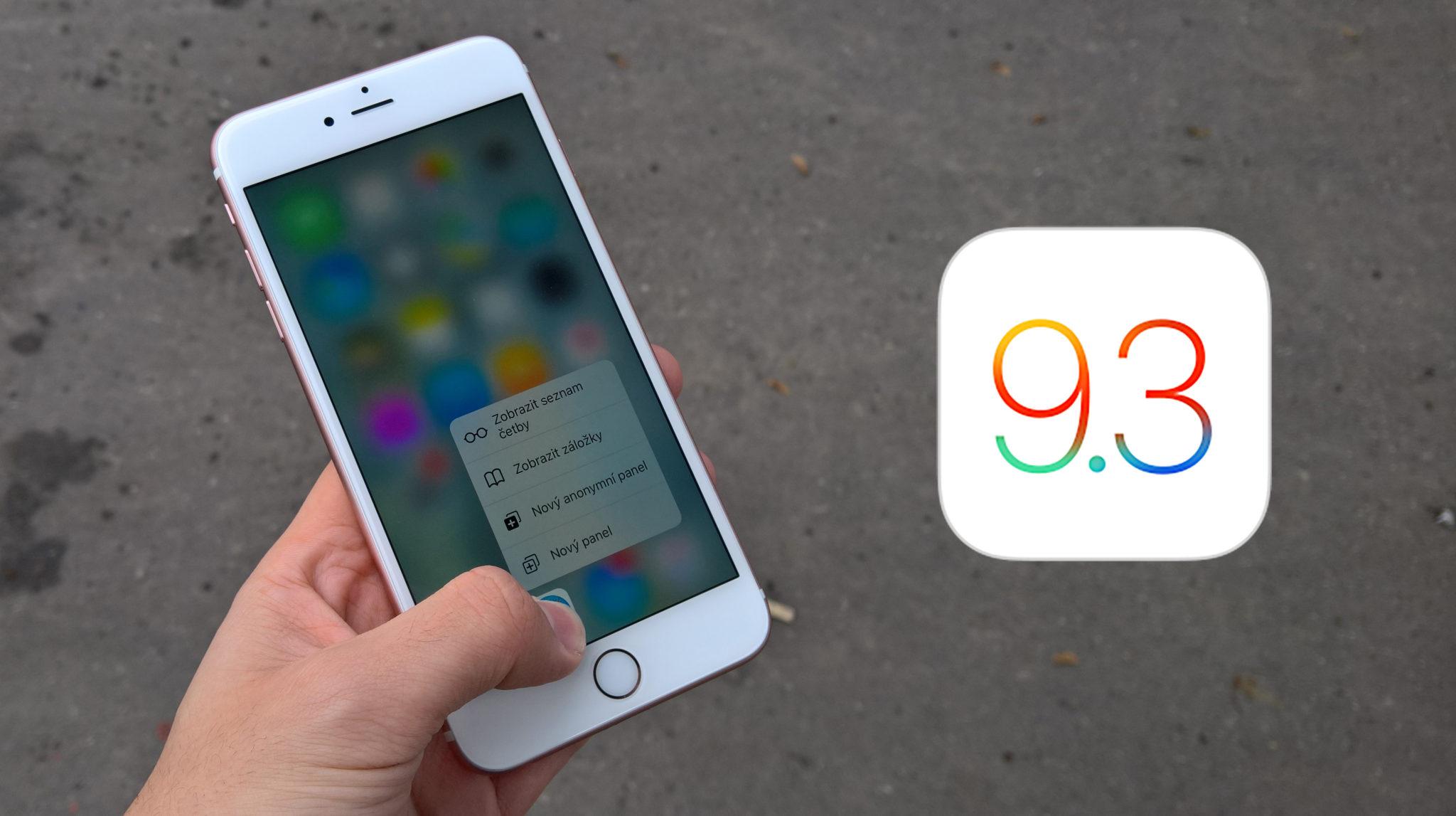 Zhlédněte novinky v iOS 9.3 na videu