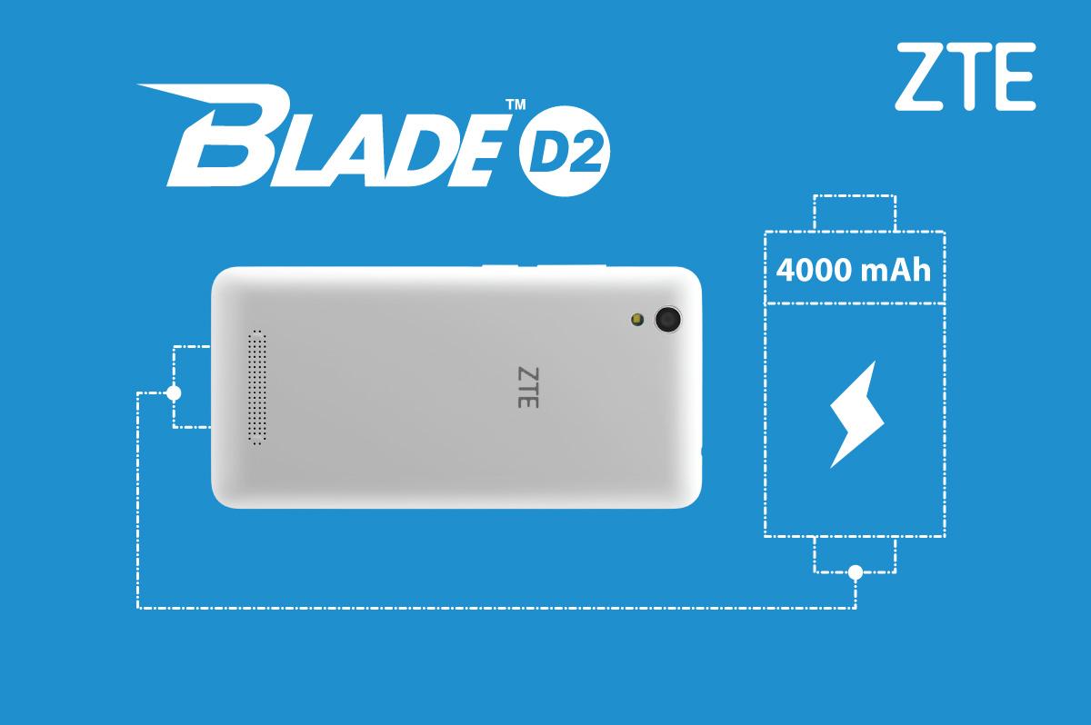 ZTE Blade D2 – průměrnou výbavu zachraňuje pořádná baterie