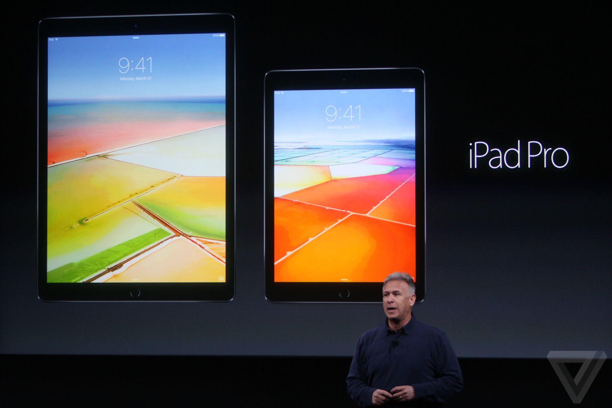 Představen byl také nový iPad Pro s úhlopříčkou 9,7″
