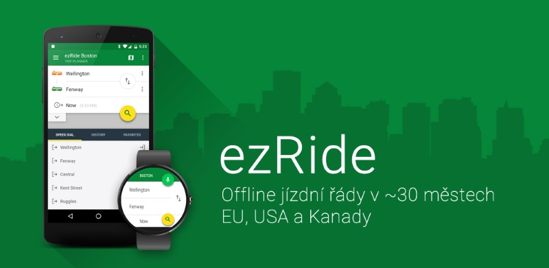 ezRide od tvůrců CG Transit – veřejná doprava zahraničních měst
