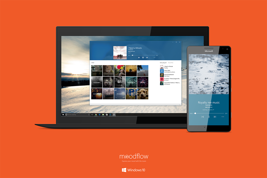 Poslouchejte hudbu podle nálady s Moodflow pro Windows 10