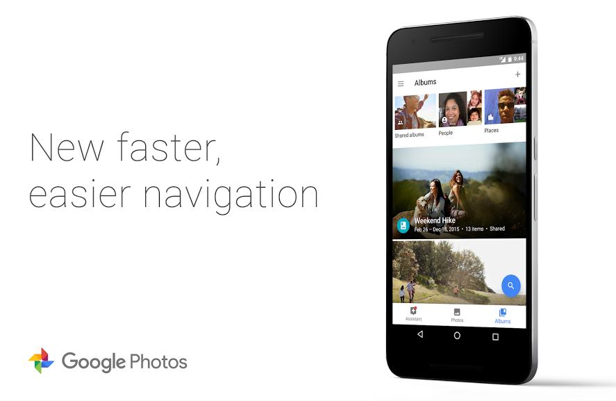Google Fotky nasazují designový prvek známý z Google+