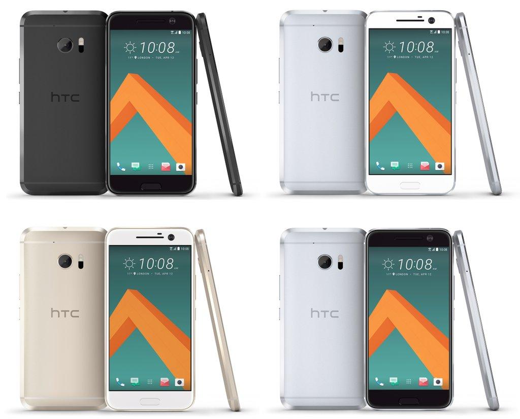 HTC 10 – rendery zařízení a barevné kombinace