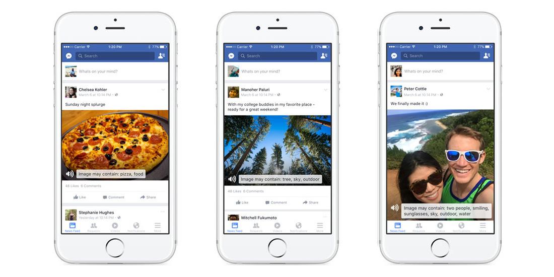 """Nevidomí nyní mohou """"vidět"""" fotky v aplikaci Facebook"""
