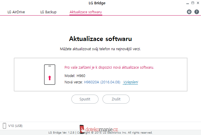 LG Bridge V10 Marshmallow