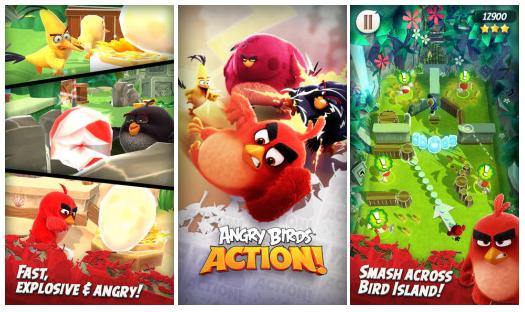 Angry Birds Action! si už můžete zahrát [aktualizováno]