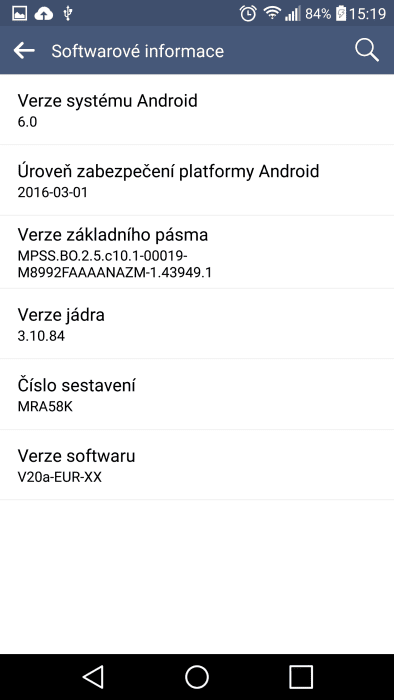 Screenshot LG V10 Marshmallow