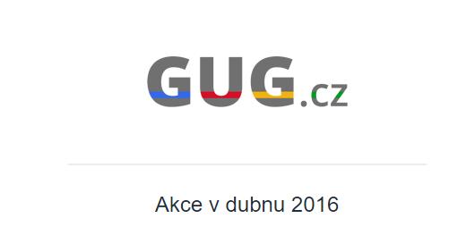 GUG.cz zve na technologicky zaměřené akce [duben]
