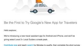 Google zve k testování aplikace na cestování
