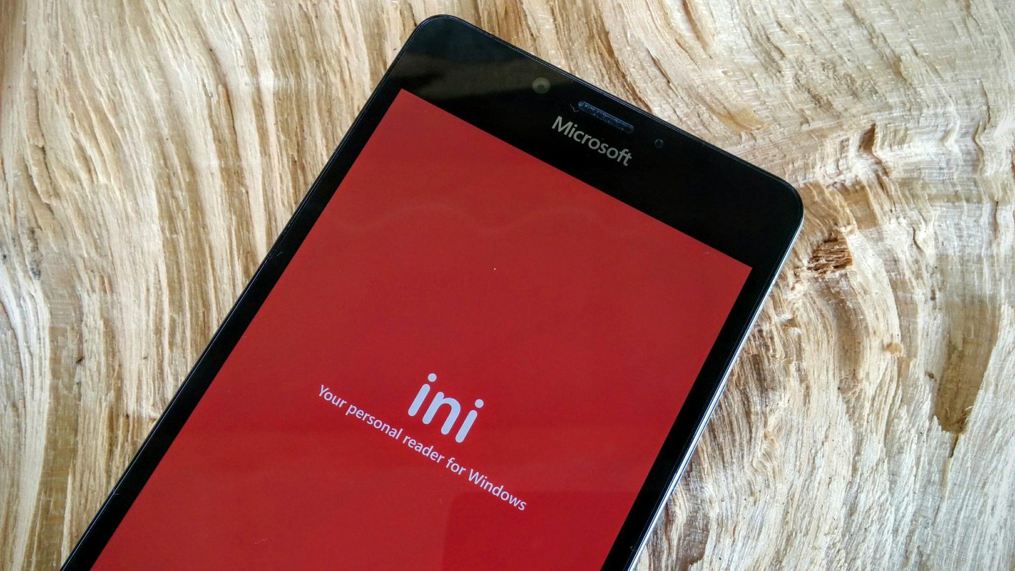 iNi Reader je první Feedly čtečkou pro Windows 10 Mobile