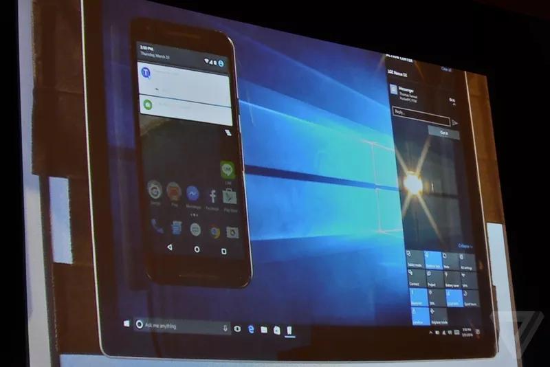 Windows 10 – zrcadlení oznámení z androidího zařízení