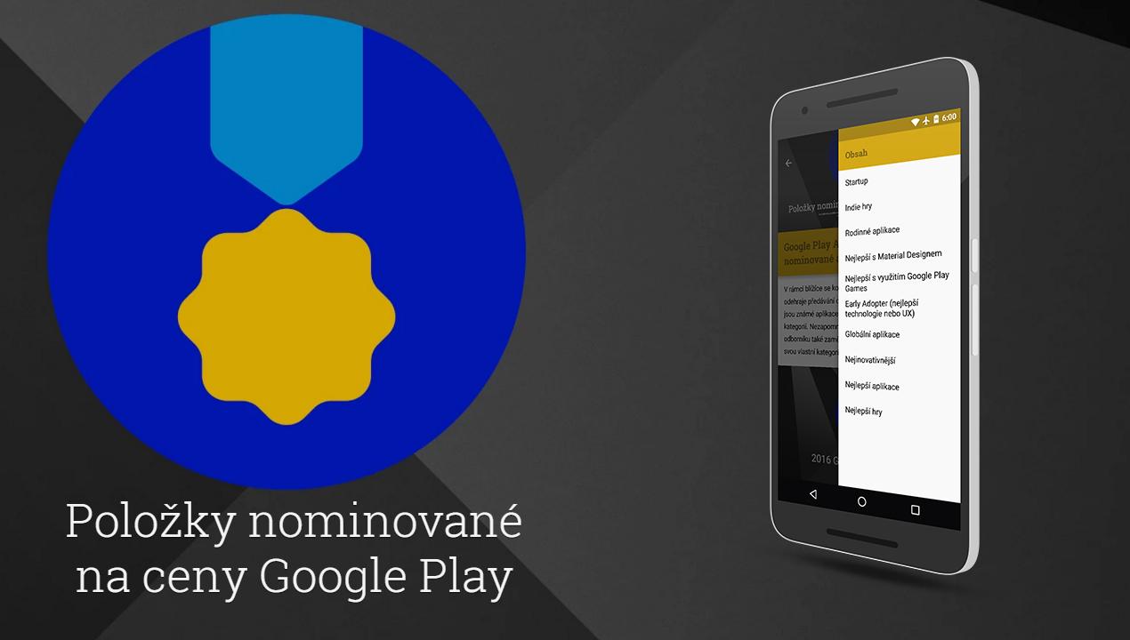 Google Play Awards – nominované aplikace
