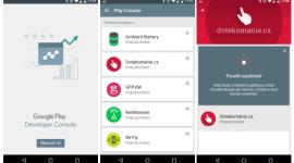 Nová aplikace Google Play Developer Console