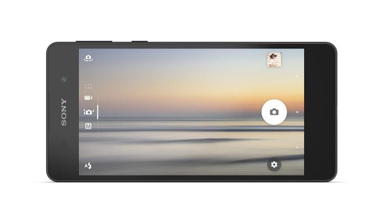 Sony Xperia E5 Black FrontHoriz