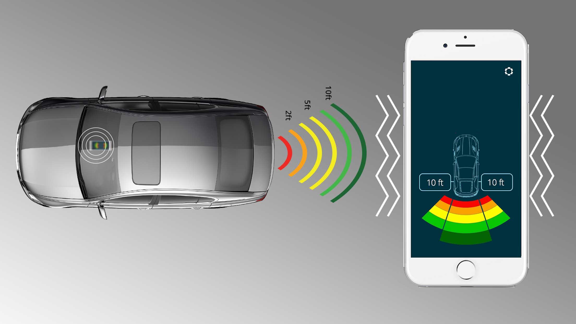 Parkovací senzor pro chytré telefony
