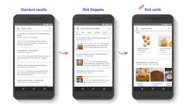 """Google přináší """"bohaté karty"""" pro mobilní vyhledávání"""
