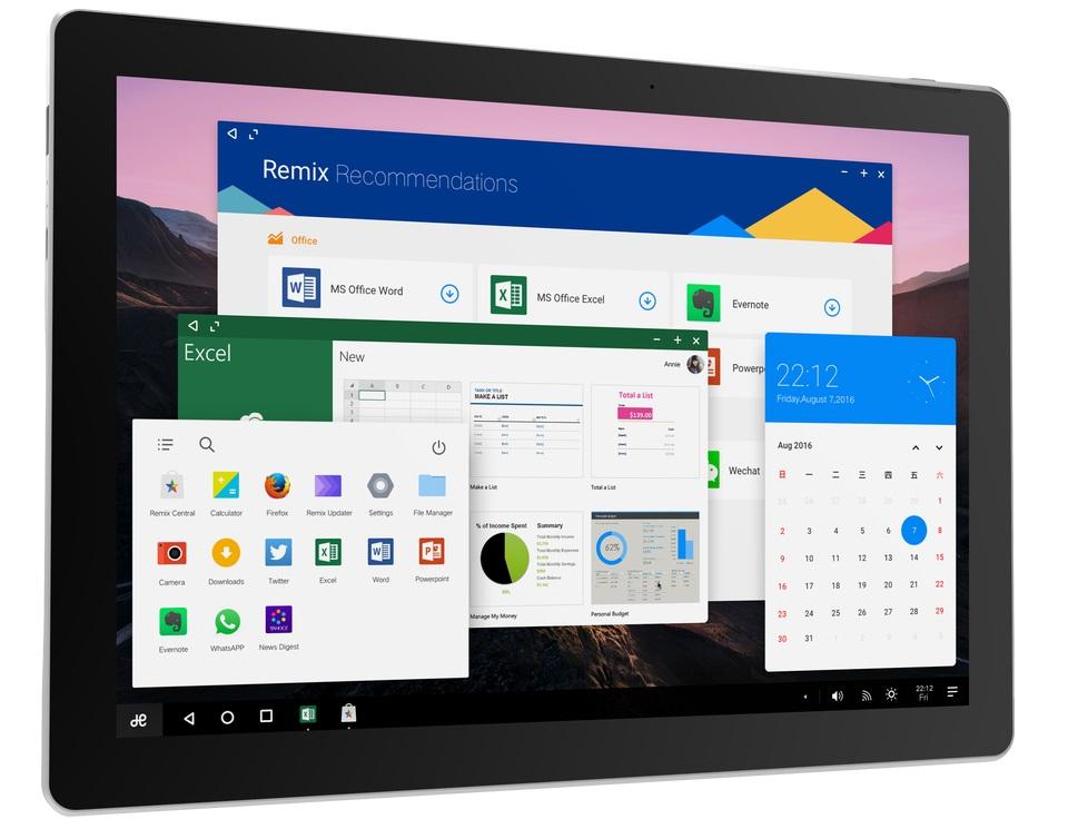 Tablet Jide Remix Pro ovládnut systémem Remix OS