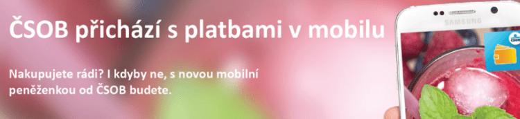 placení mobilem přes NFC