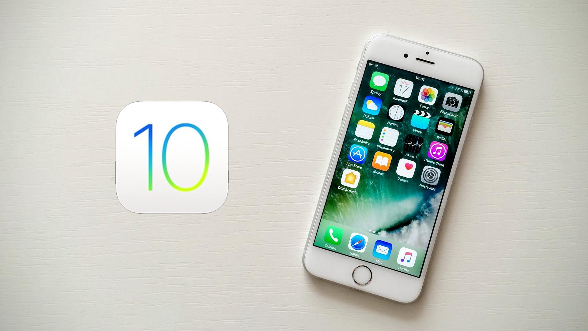 Apple právě vydal finální verzi iOS 10
