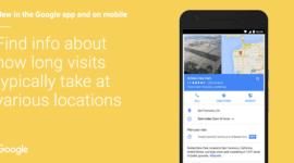 Google Mapy napoví, jak dlouho se lidé zdržují na místech
