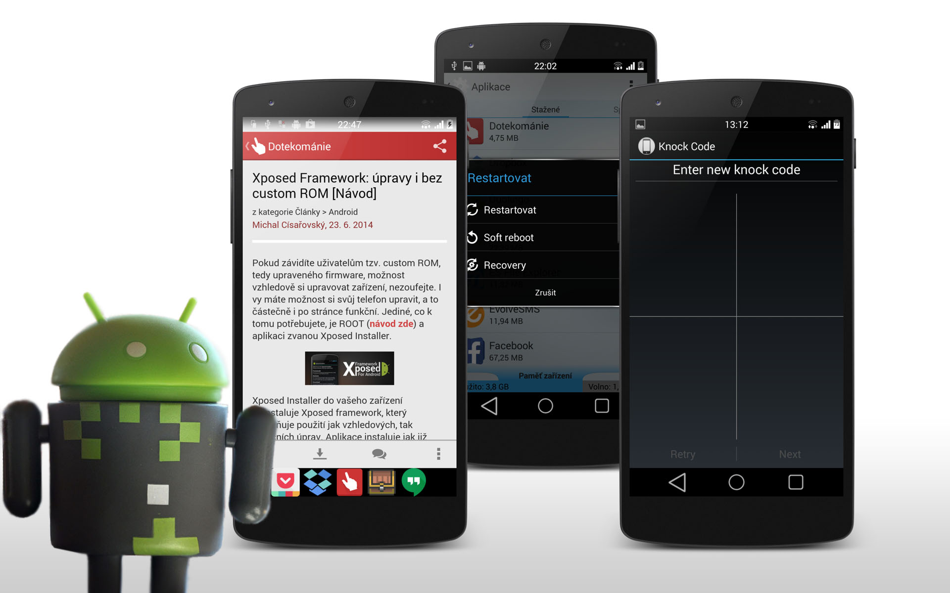 Modifikujeme Android – 5+4 moduly pro Xposed