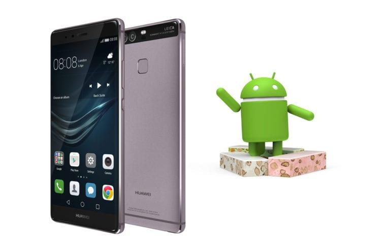 huawei p9 android nougat